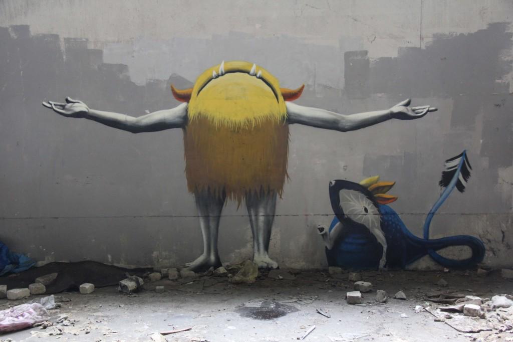 Worshipping The Light: Street Art by Kim Köster at Papierfabrik Wolfswinkel near Berlin