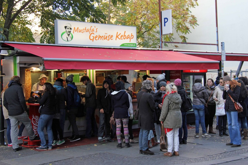 Mustafa's Gemüse Kebap on Oranienburger Strasse near Hackescher Marky in Berlin