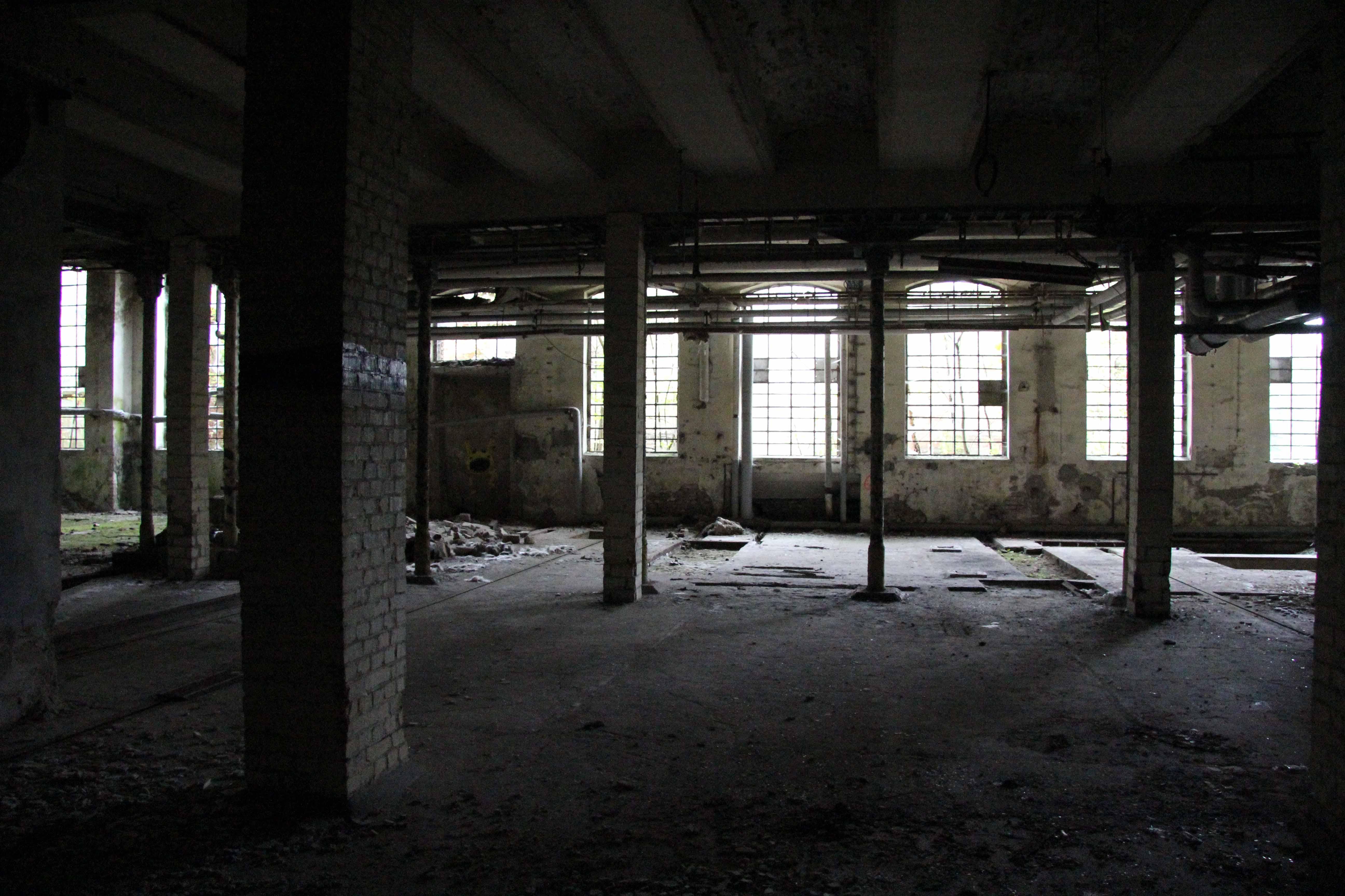 Pillars and Windows at Papierfabrik Wolfswinkel, an abandoned paper mill near Berlin