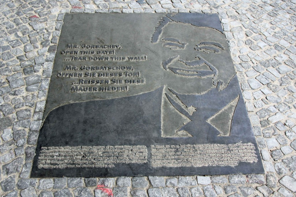 The Ronald Reagan Memorial on Strasse des 17 Juni in Berlin commemorating his Tear Down This Wall speech