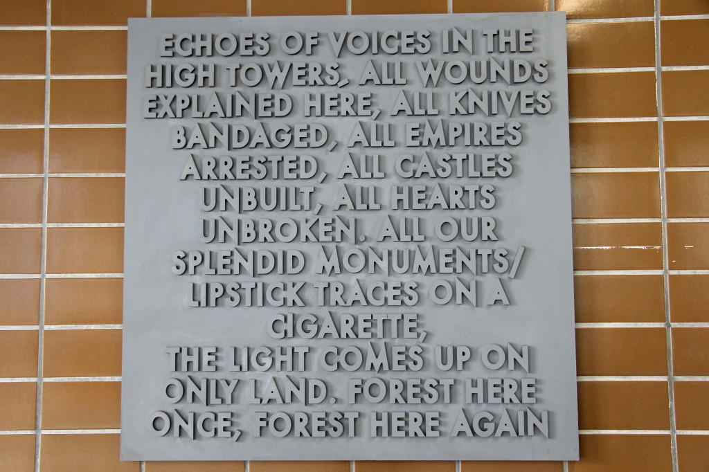 Echoes of Voices in the High Towers - Robert Montgomery at the Echoes of Voices in the High Towers show at Stattbad Wedding in Berlin