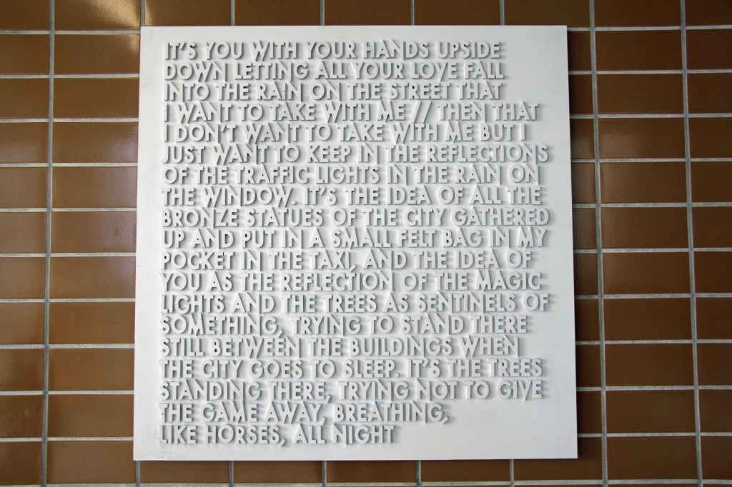 it's You With Your Hands Upside Down - Robert Montgomery at the Echoes of Voices in the High Towers show at Stattbad Wedding in Berlin