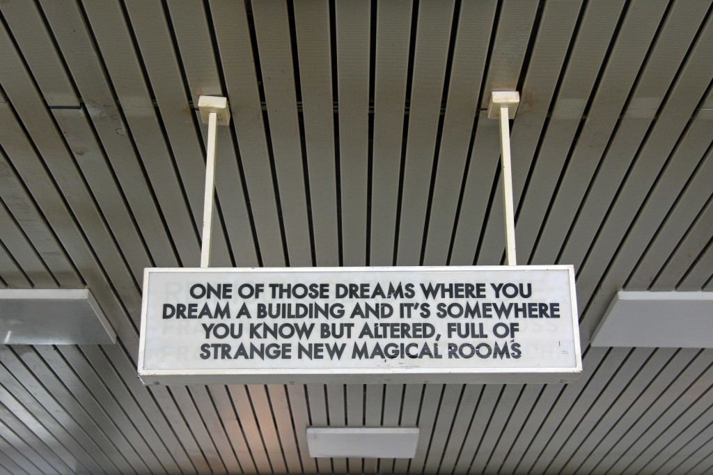 One Of Those Dreams - Robert Montgomery Sign at the Echoes of Voices in the High Towers show at Stattbad Wedding in Berlin