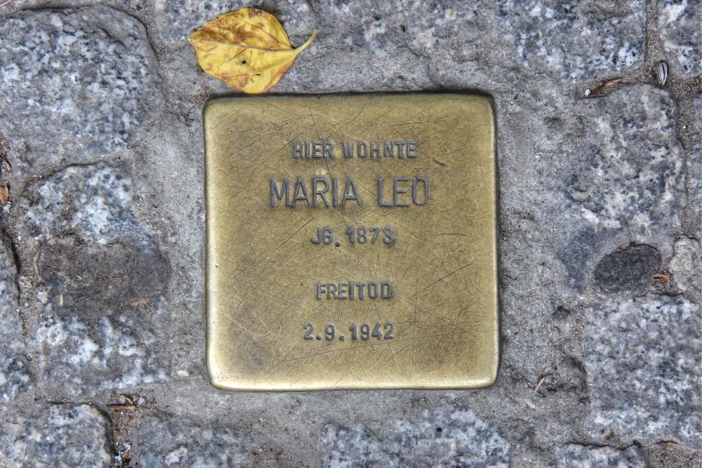 Stolpersteine 132: In memory of Maria Leo (Pallasstrasse 12) in Berlin