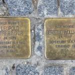Stolpersteine 136: In memory of Leopold Strebinger and Gertrud Wollmann (Tieckstrasse 36) in Berlin