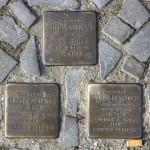 Stolpersteine 140: In memory of Martha Mannheim, Rudolf Flatauer and Paula Flatauer (Witzlebenstrasse 12a) in Berlin