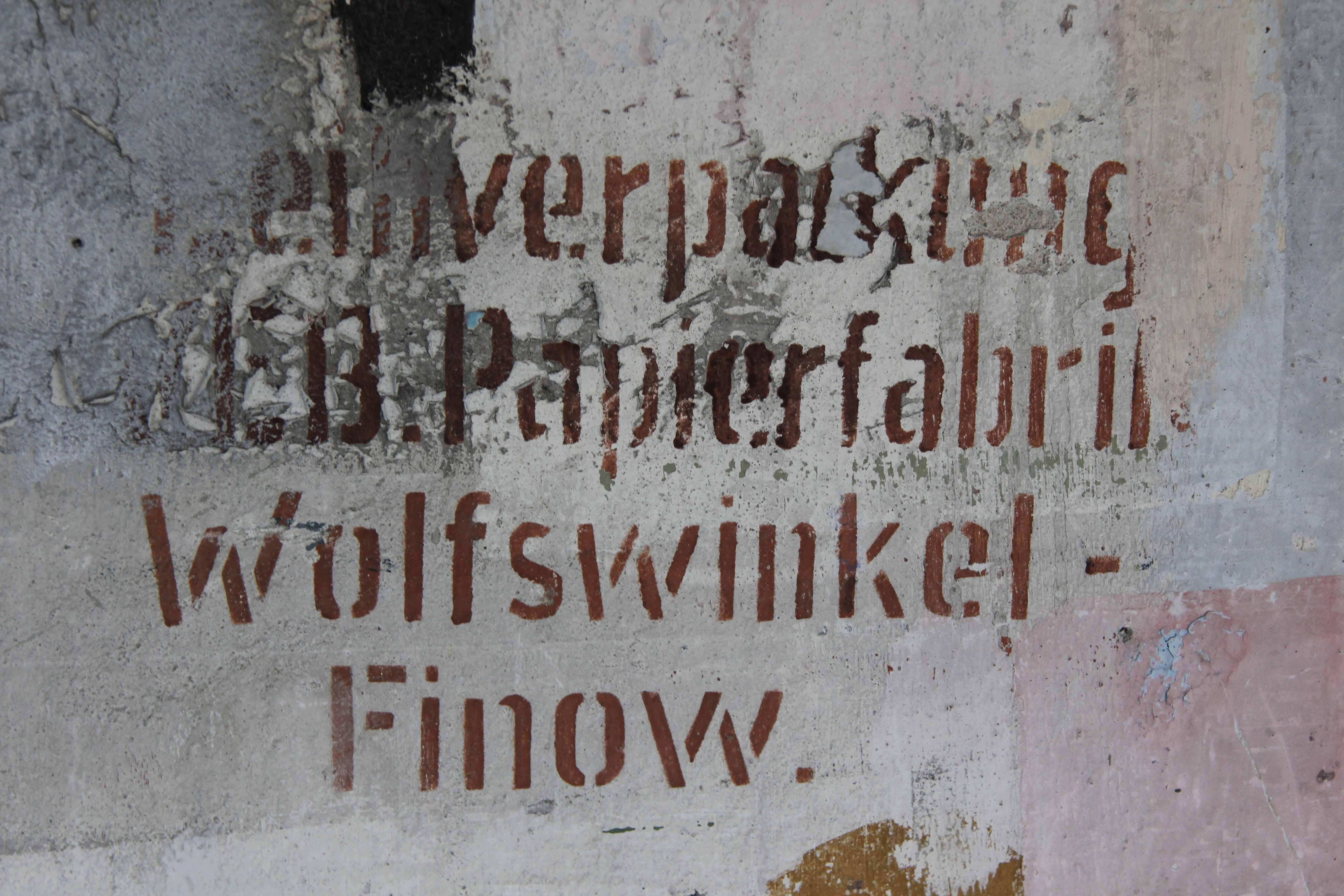 Writing On The Wall at Papierfabrik Wolfswinkel, an abandoned paper mill near Berlin