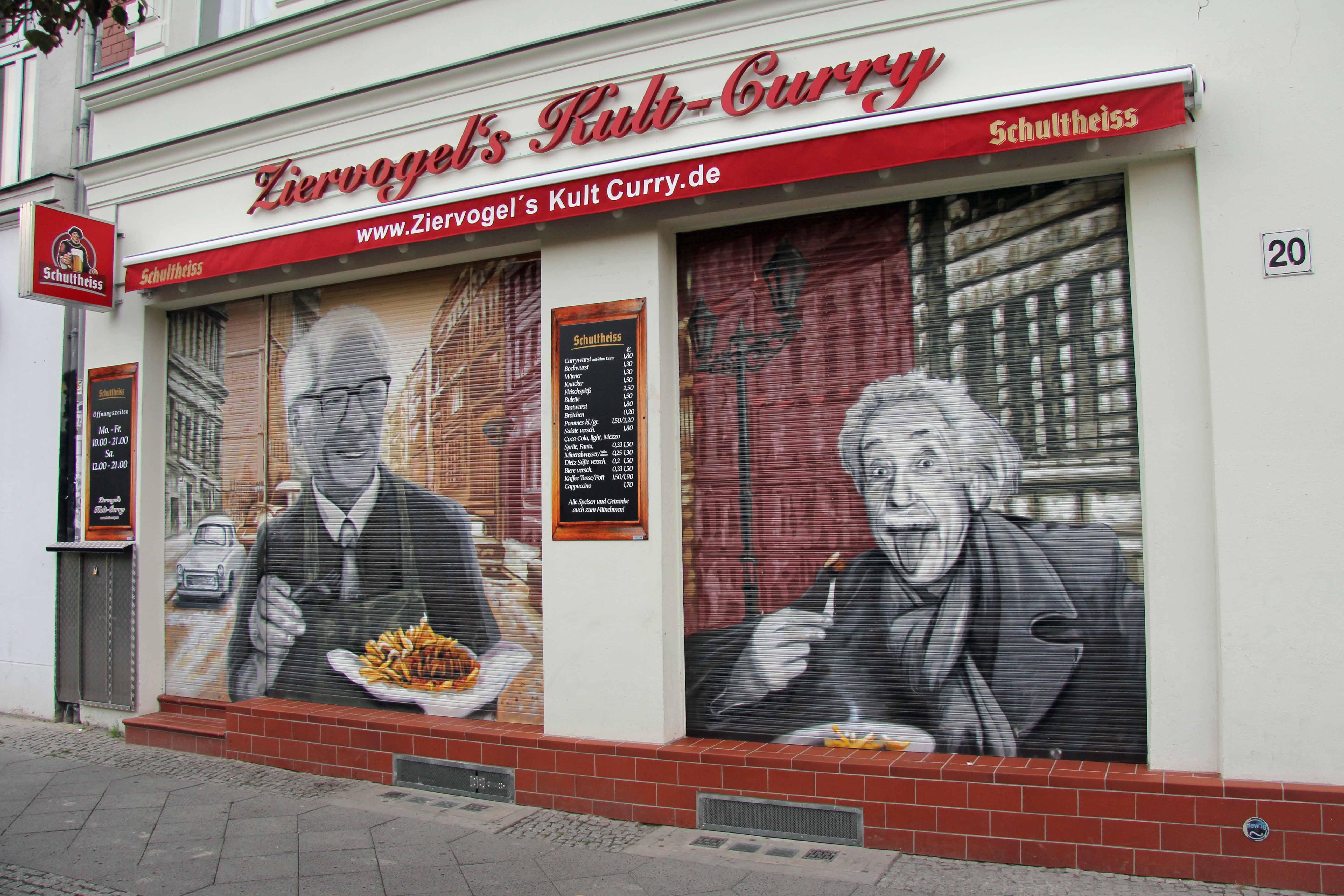 Ziervogel's Kult-Curry Imbiss on Schönhauser Allee in Berlin