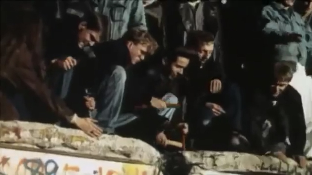 Screenshot from The Rise and Fall of the Berlin Wall on YouTube
