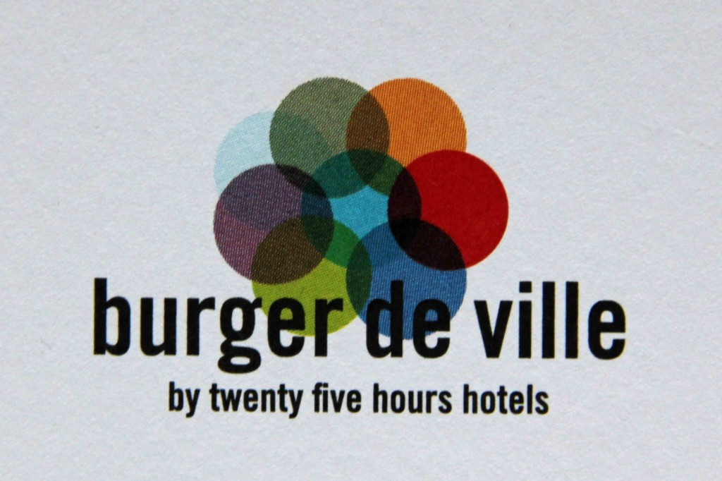 The logo of Burger de Ville in Berlin taken from the menu