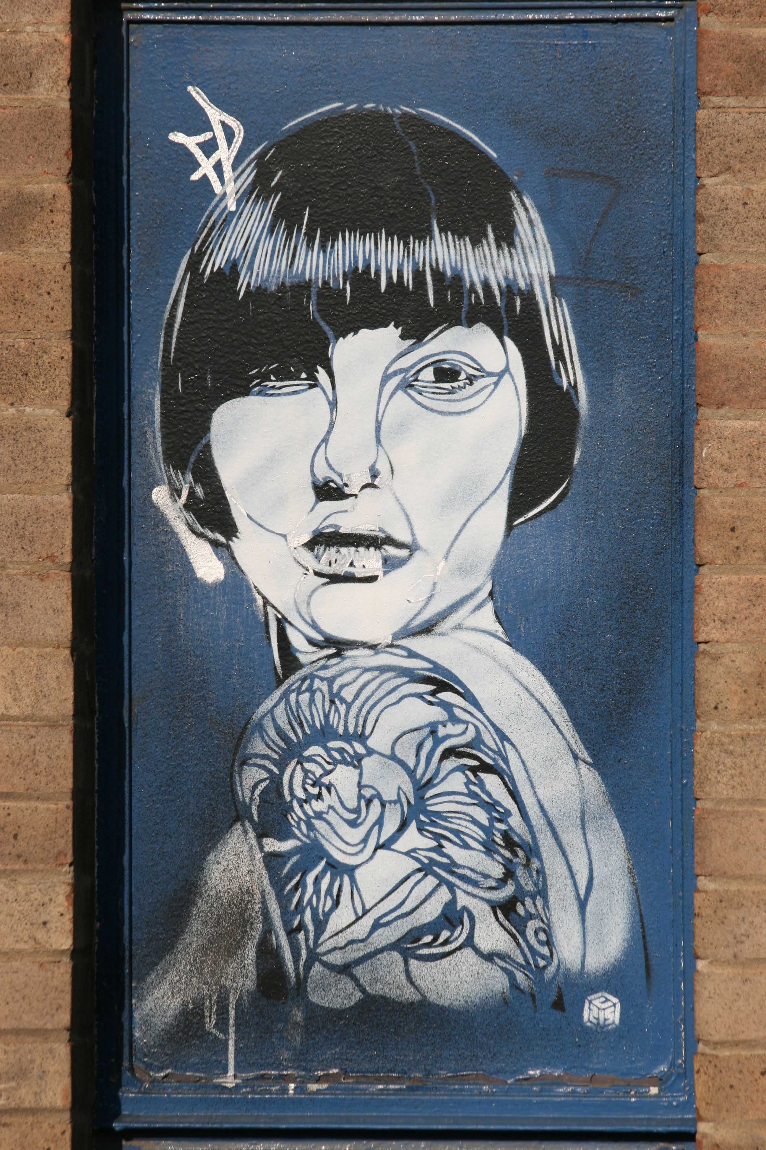Bob and Tattoo - Street Art by C215 in London