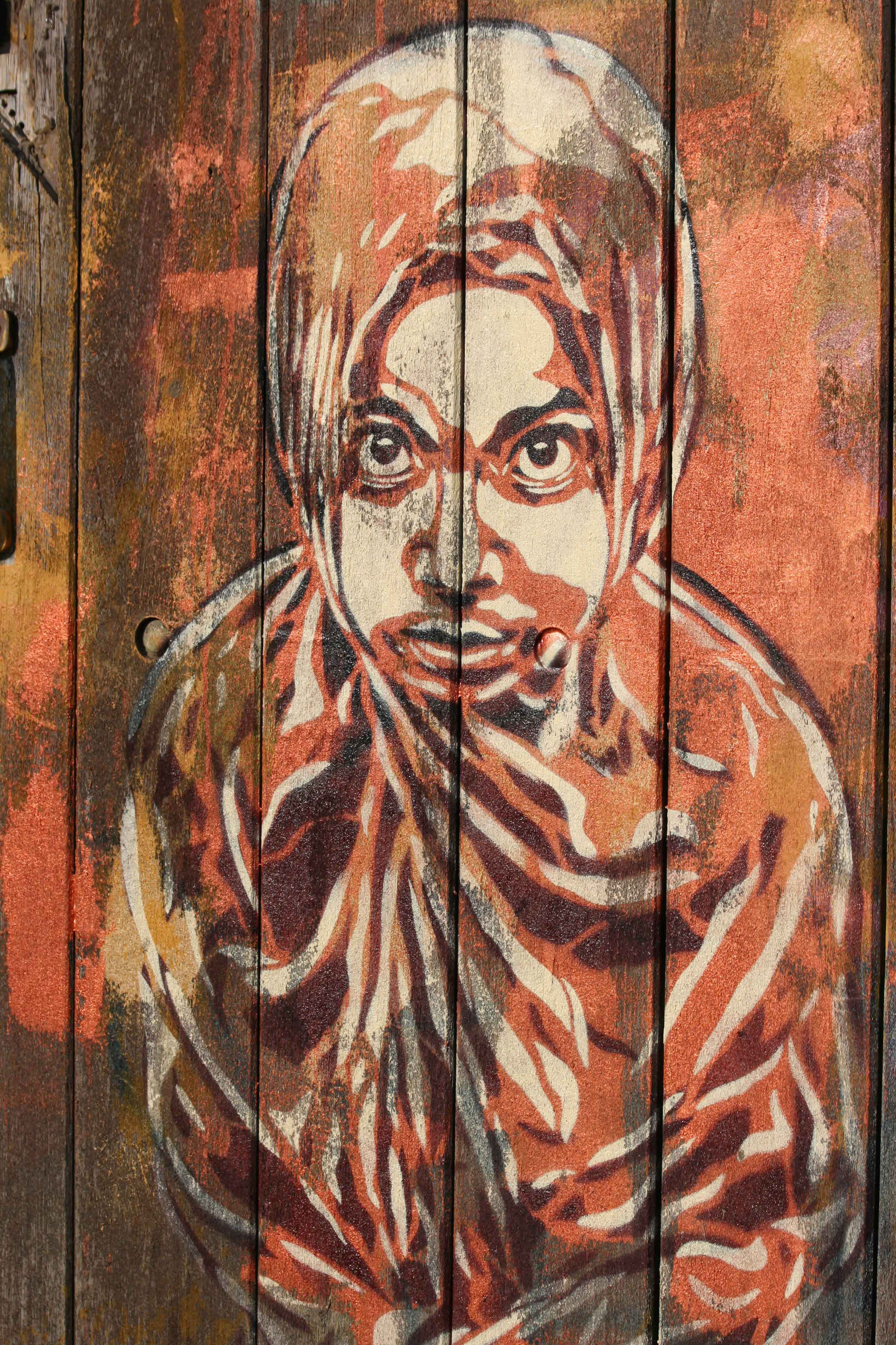 Covered Head - Street Art by C215 in London