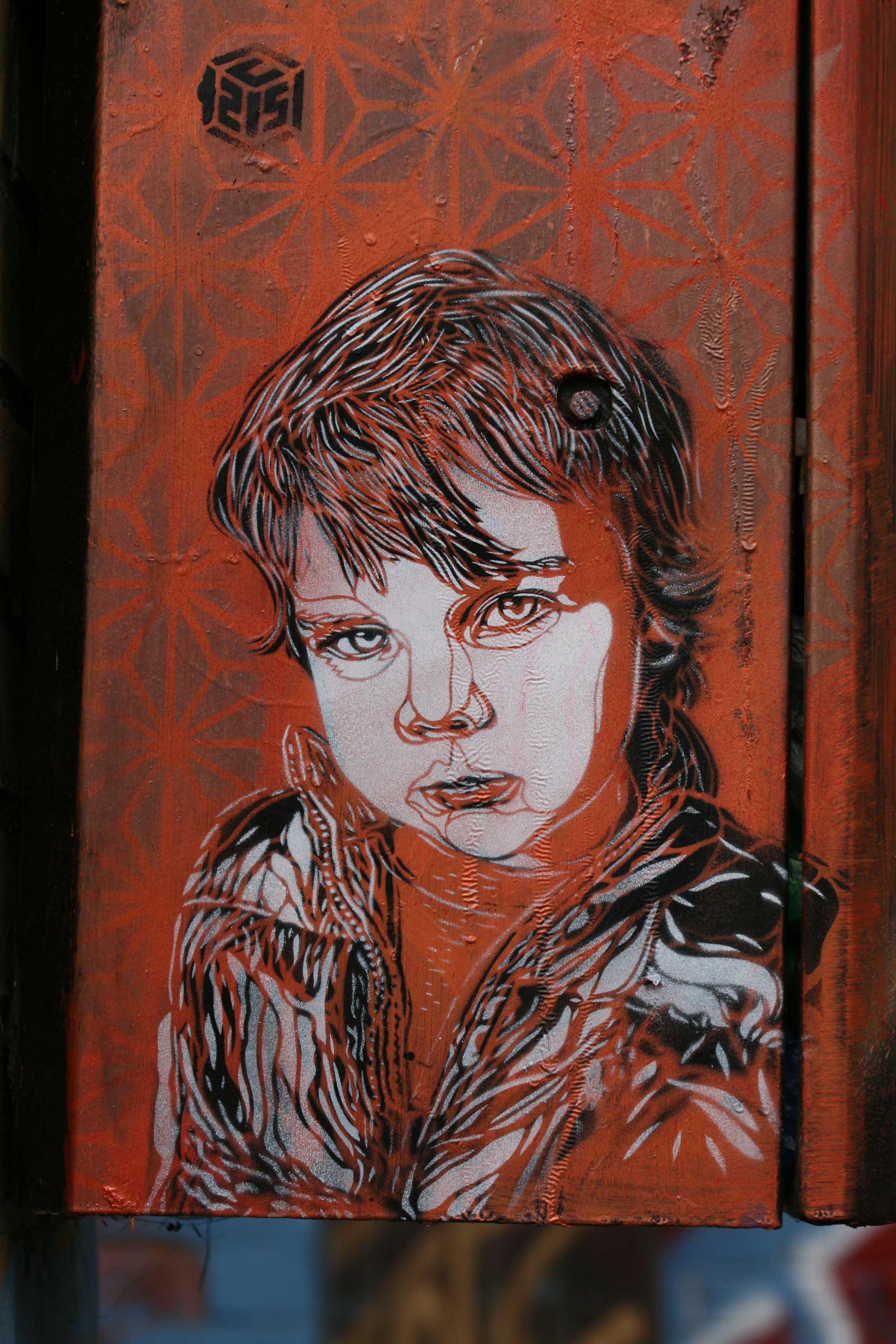 Innocent Face - Street Art by C215 in London