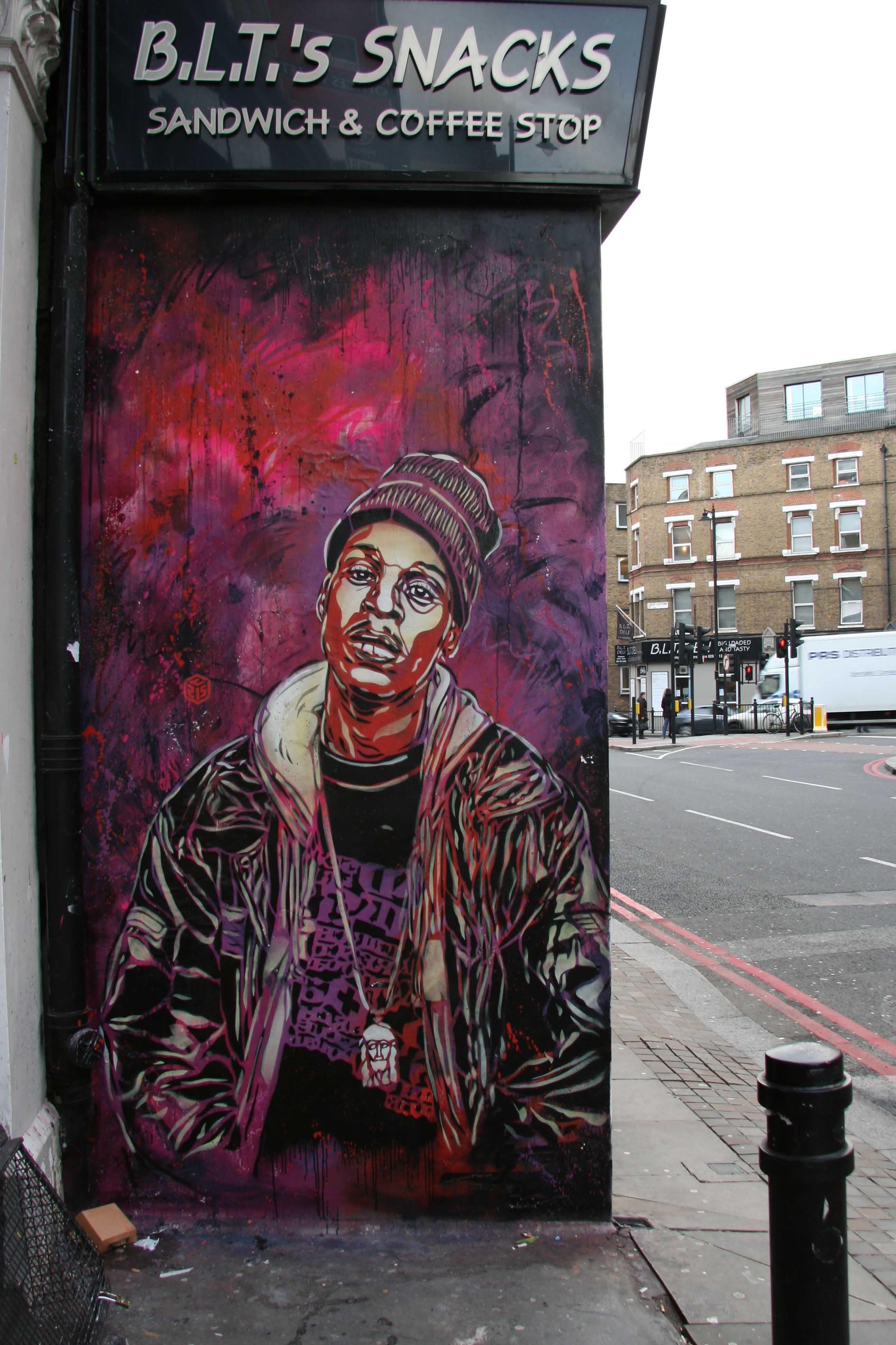 Outside Signal Gallery - Street Art by C215 in London