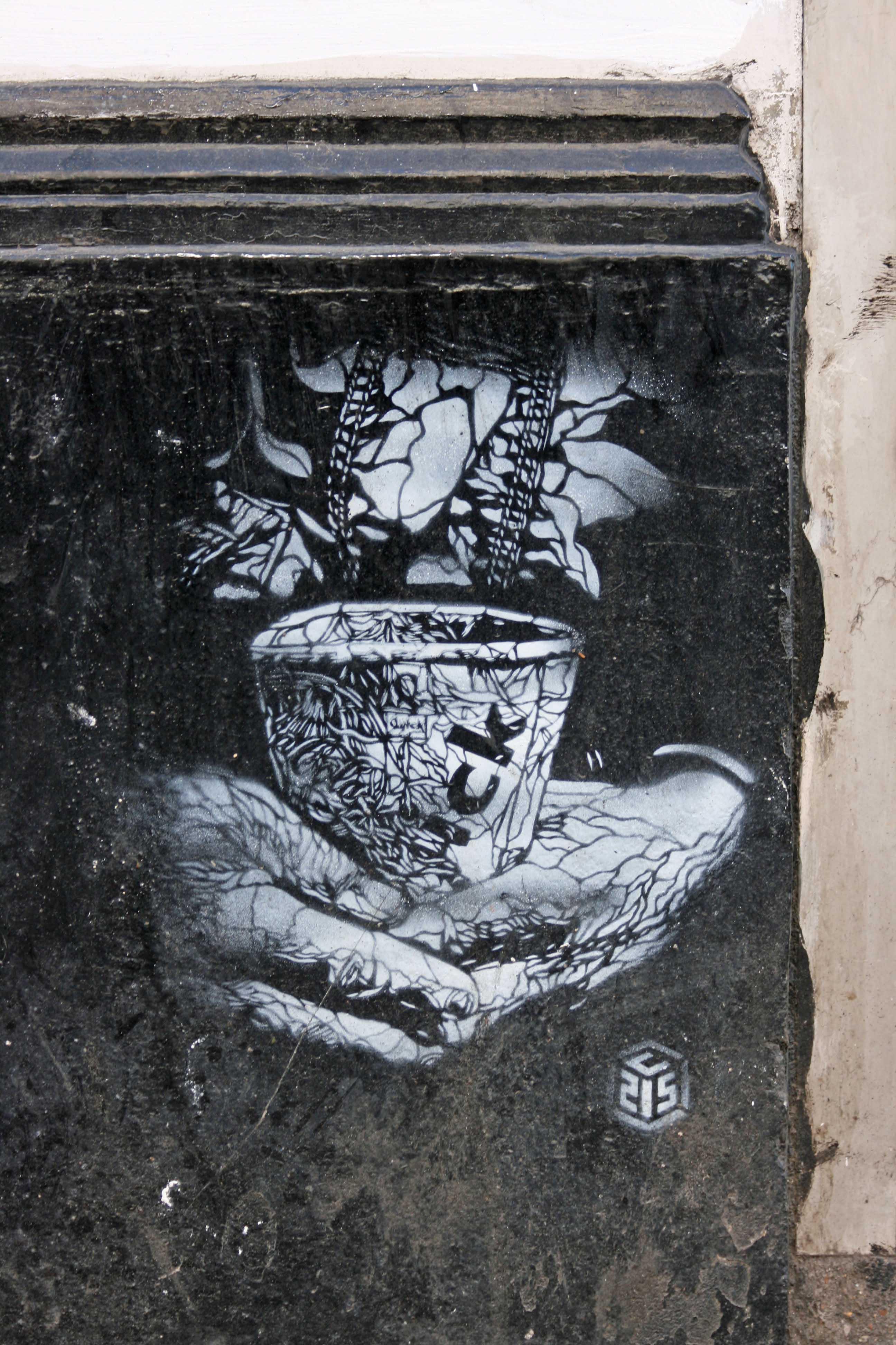 Small Change Please - Street Art by C215 in London