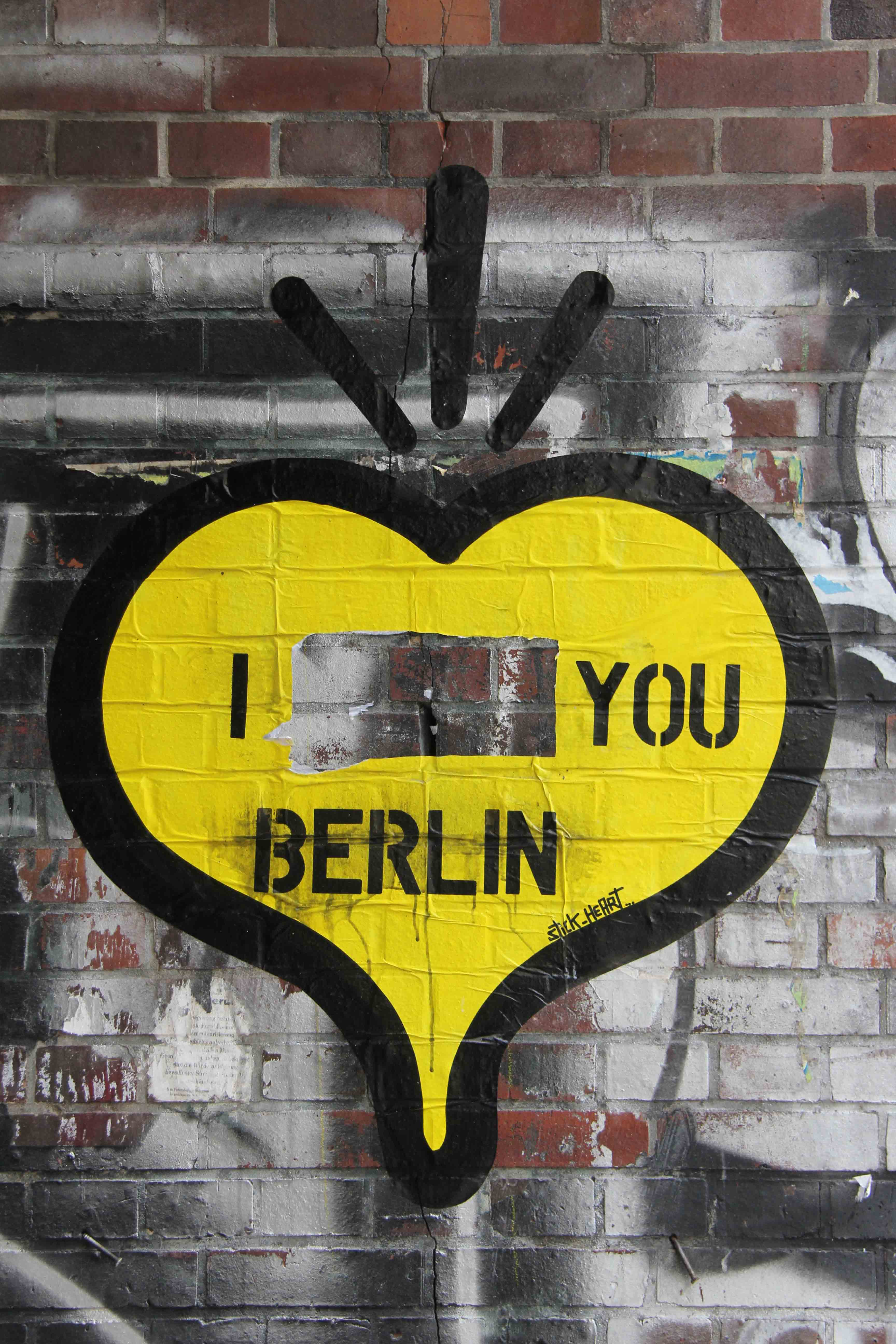 I ____ You Berlin - Street Art by Stick-Heart in Berlin