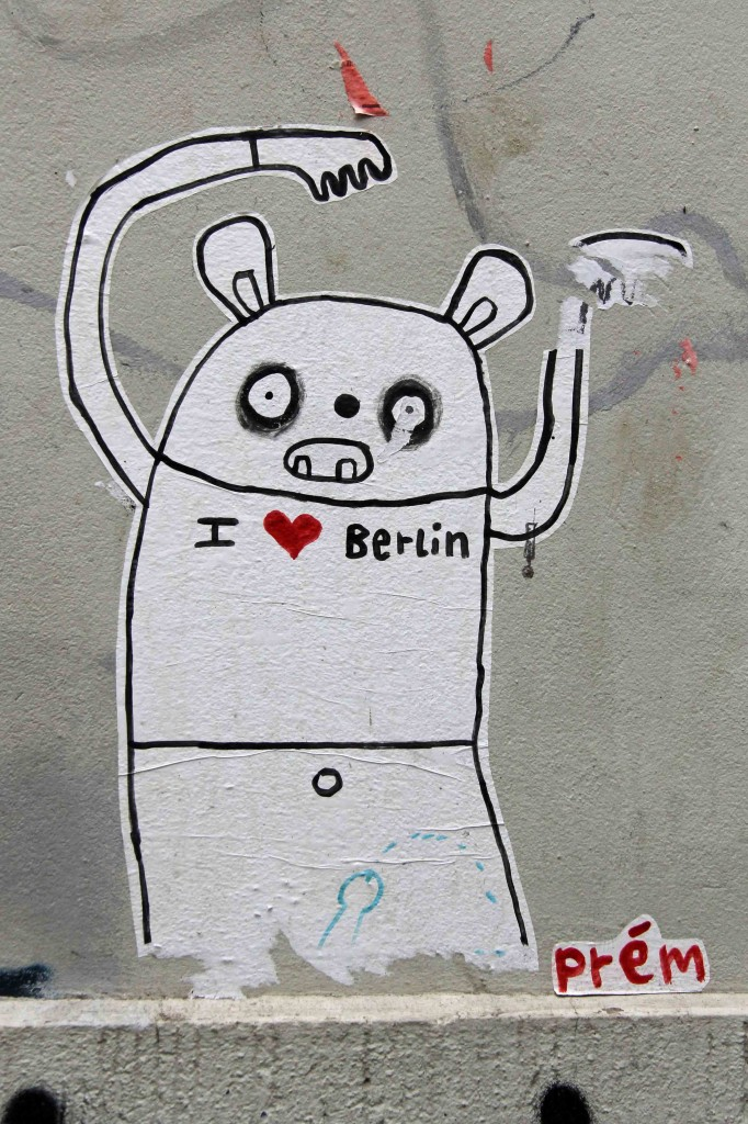 I Love Berlin - Street Art by Prém in Berlin