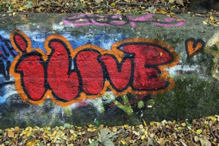iLove: Graffiti by Unknown Artist in Berlin