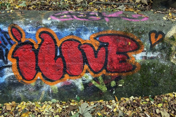 iLove: Graffiti by Unknown Artist in Berlin