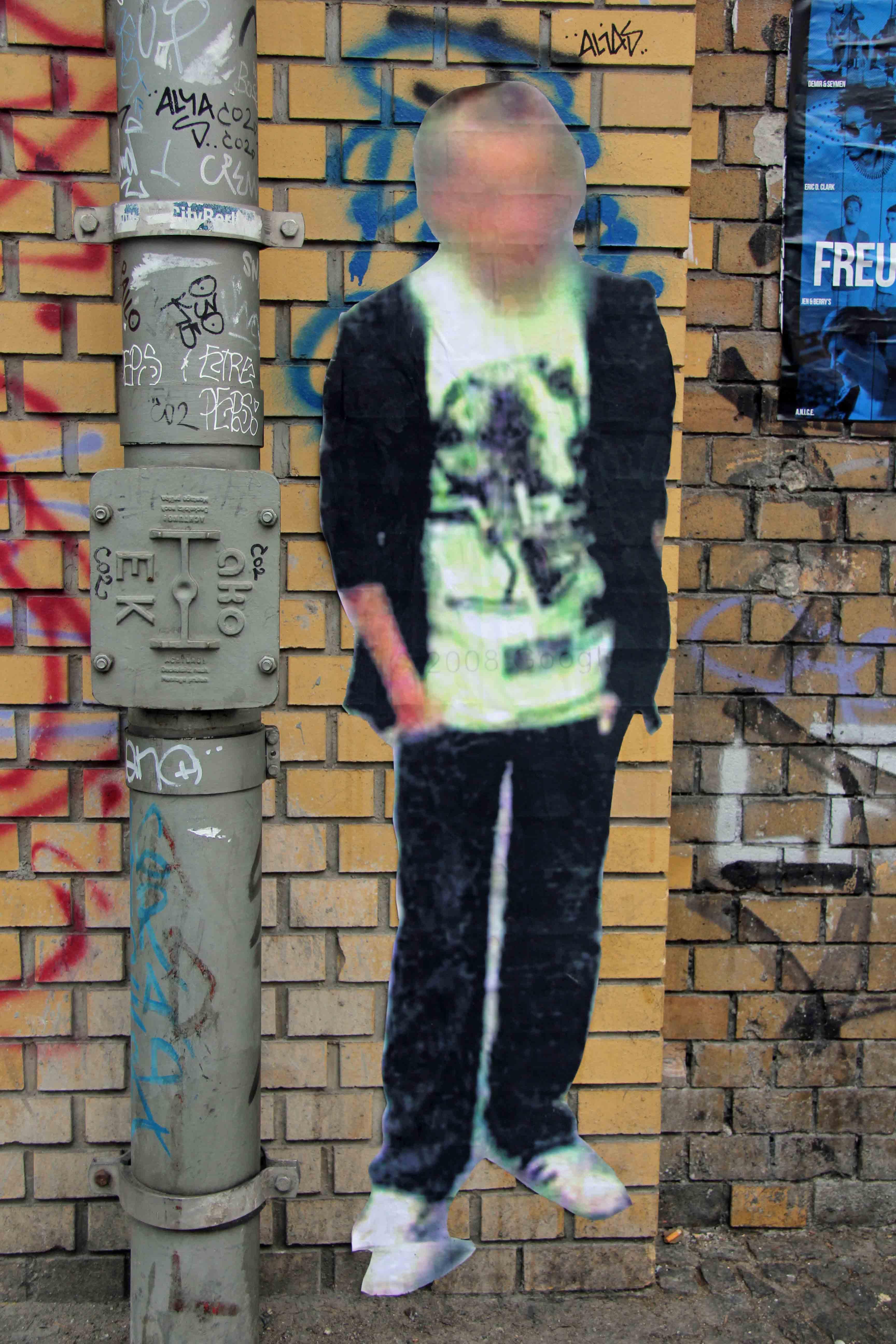 Street Ghost - Street Art by Paolo Cirio in Berlin