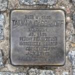 Stolpersteine Berlin 146: In memory of Tatjana Barbakoff (Knesebeckstrasse 100)