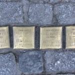 Stolpersteine Berlin 150: In memory of Kurt Gumpert, Ewald Gumpert, Georg Gumpert and Irene Gumpert (Oranienstrasse 187)