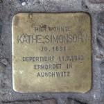 Stolpersteine Berlin 152: In memory of Käthe Simonsohn (Auguststrasse 17)