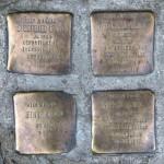 Stolpersteine Berlin 153: In memory of Siegfried Lewin, Adelheid Lewin, Edith Lewin and Helga Lewin (Ackerstrasse 1)
