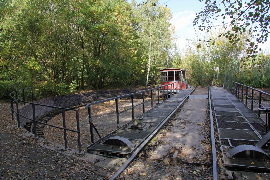 A train Turning Circle at Natur-Park Schöneberger Südgelände in Berlin