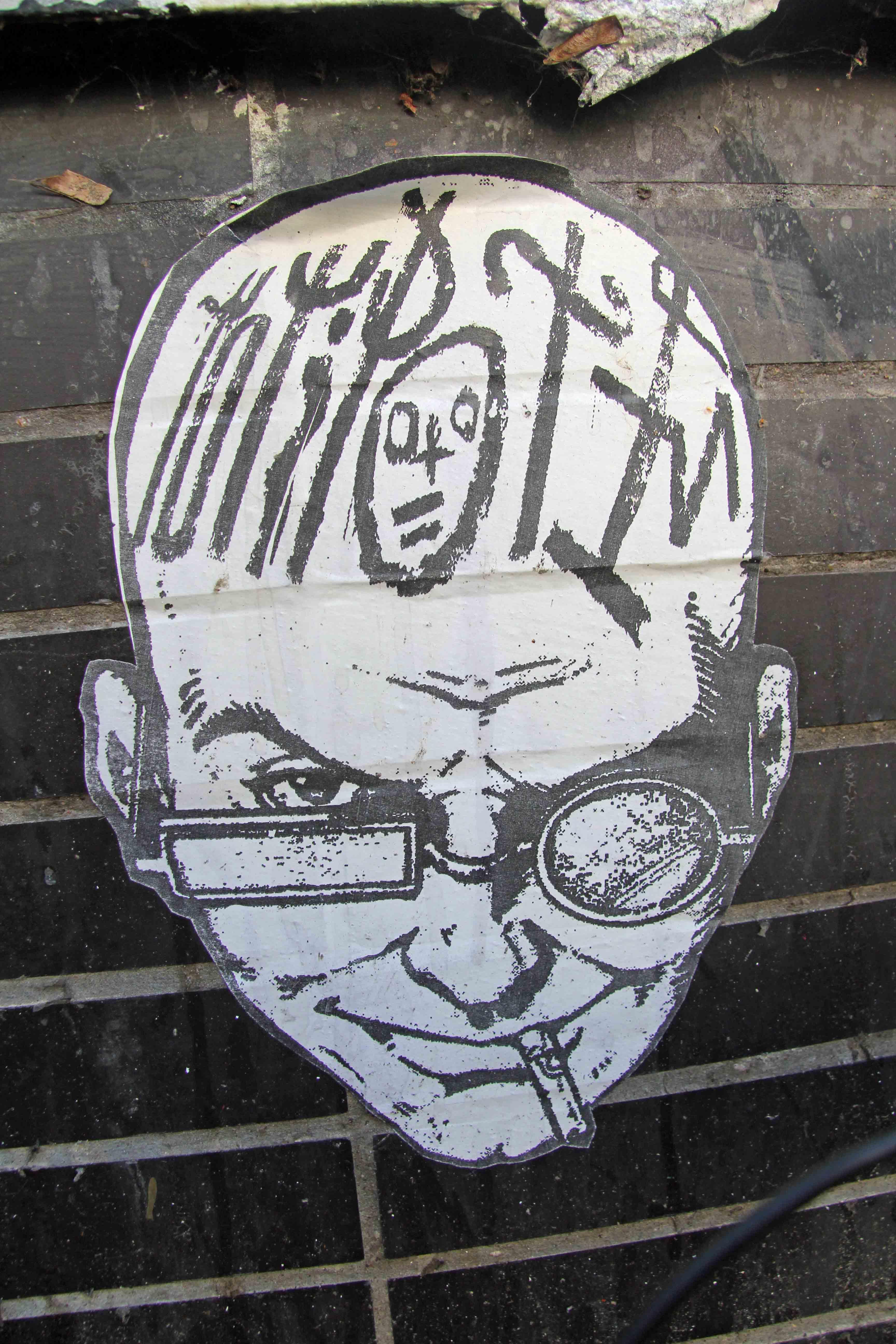 Mad Scientist - Street Art by Unknown Artist in Berlin