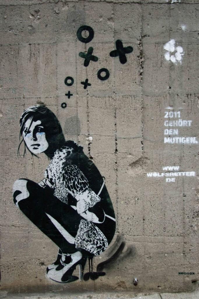 Squatting at Boros Bunker - Street Art by XOOOOX in Berlin