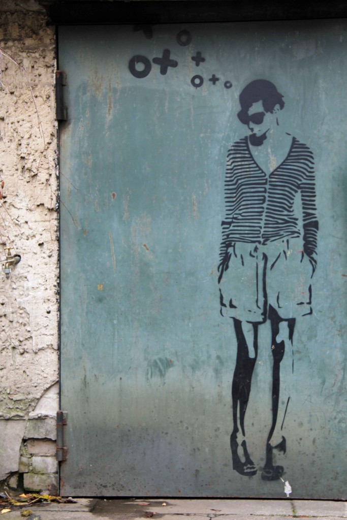 Striped Top - Street Art by XOOOOX in Berlin