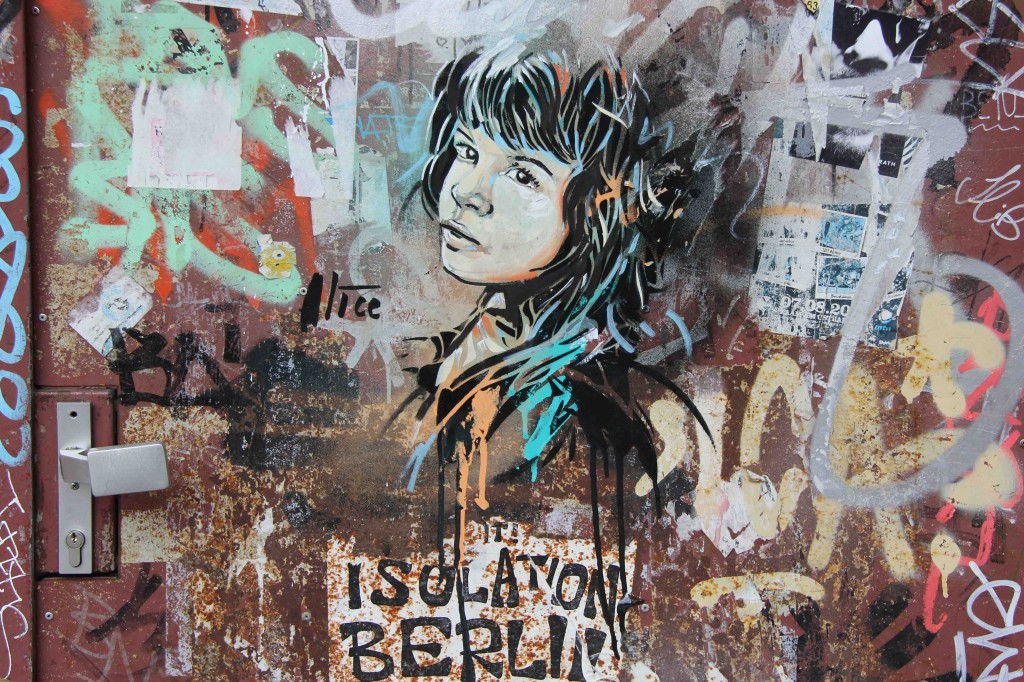 Beautiful Isolation - Street Art by AliCé (Alice Pasquini) in Berlin