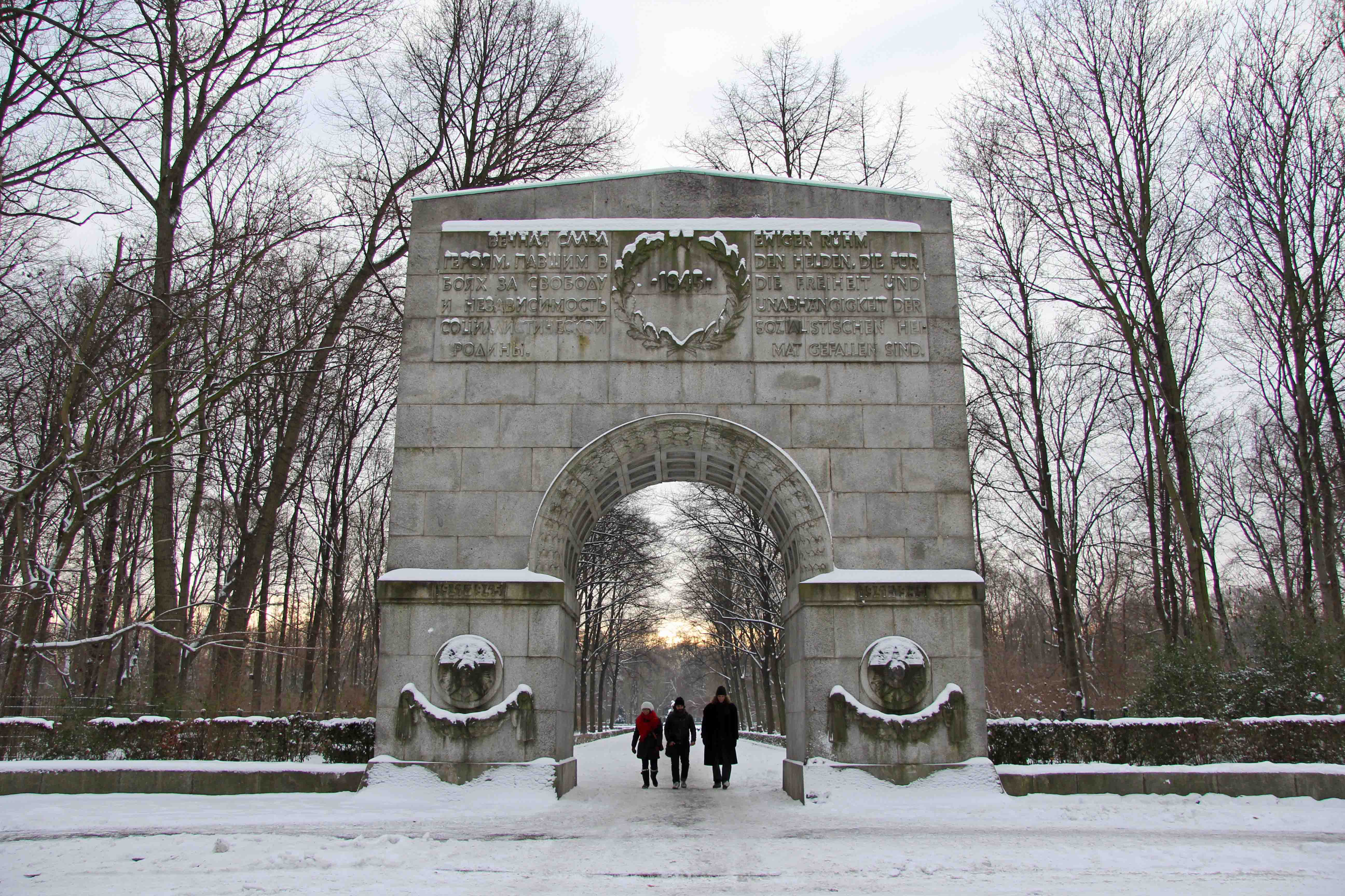 Archway at the entrance to the Soviet War Memorial in Treptower Park in Berlin
