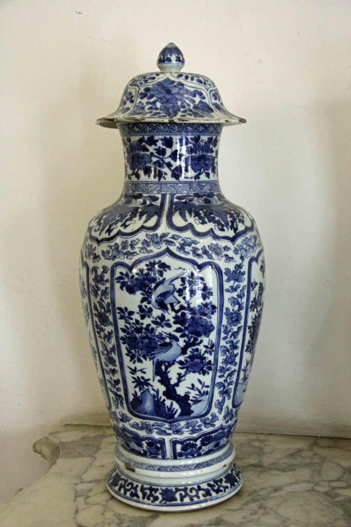 Blue and white china vase at Schloss Charlottenburg in Berlin