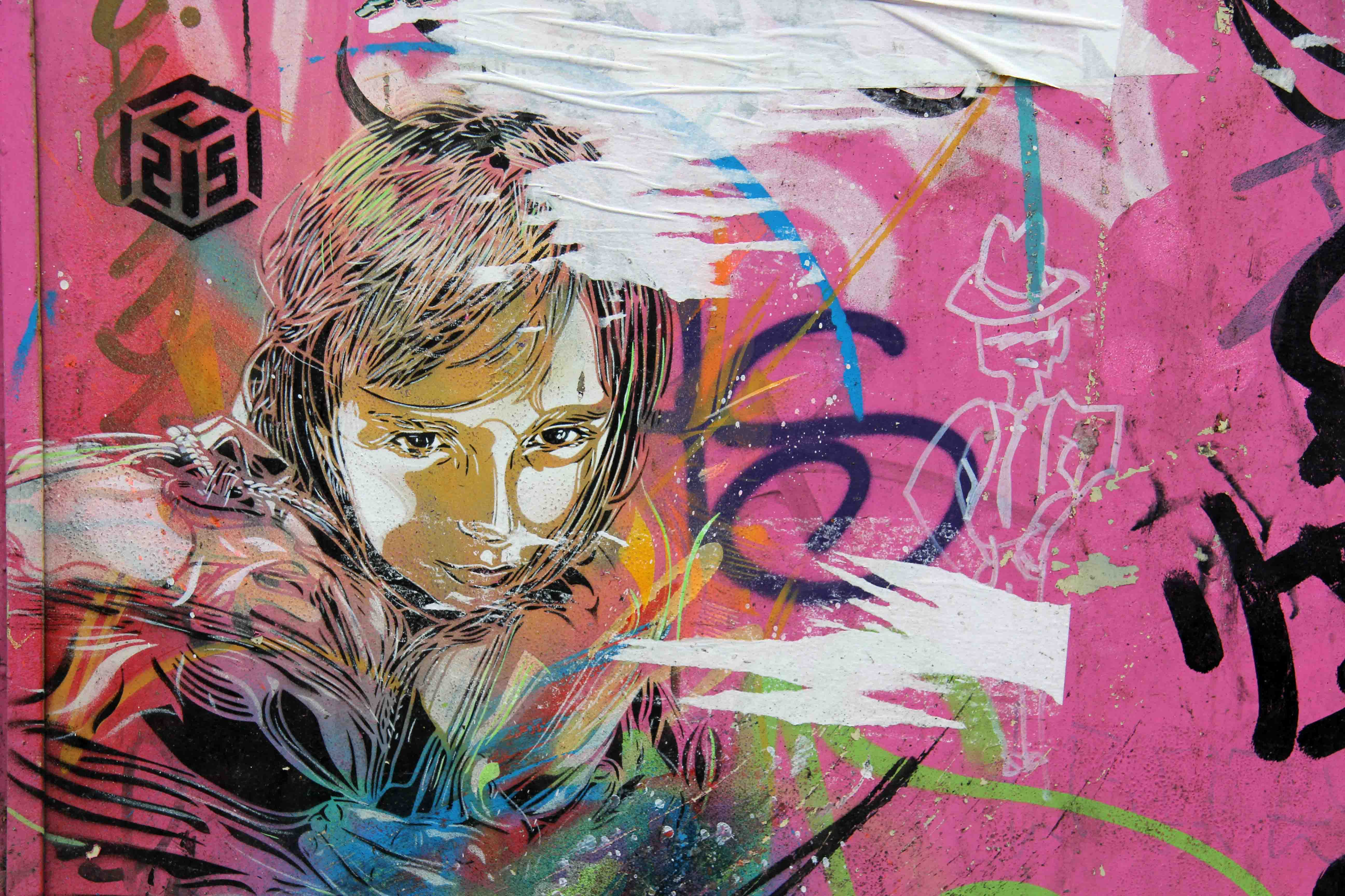 In The Pink - Street Art by C215 in Berlin
