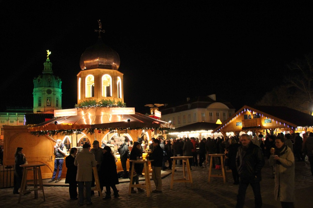 A Food and Drink Stand at Weihnachtsmarkt vor dem Schloss Charlottenburg - a Christmas Market in Berlin