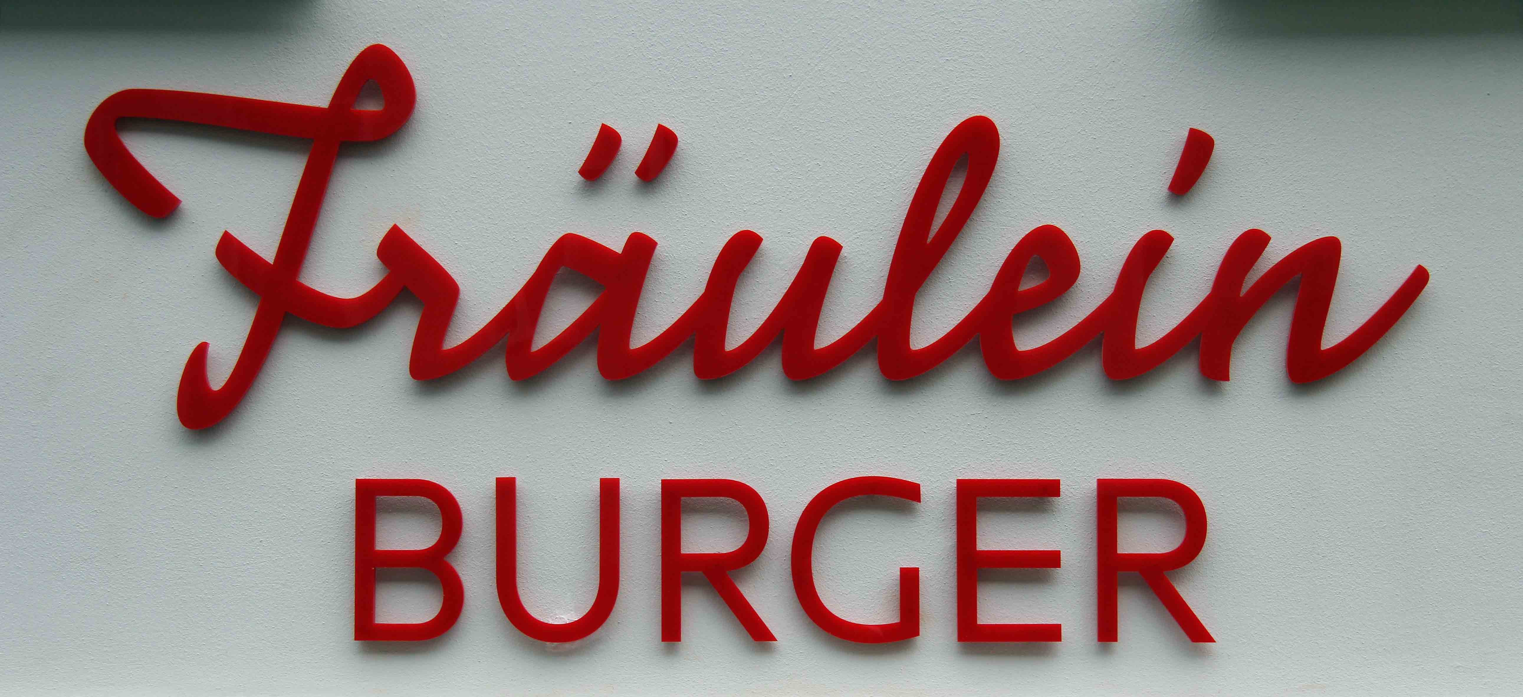 The sign at Fräulein Burger in Berlin