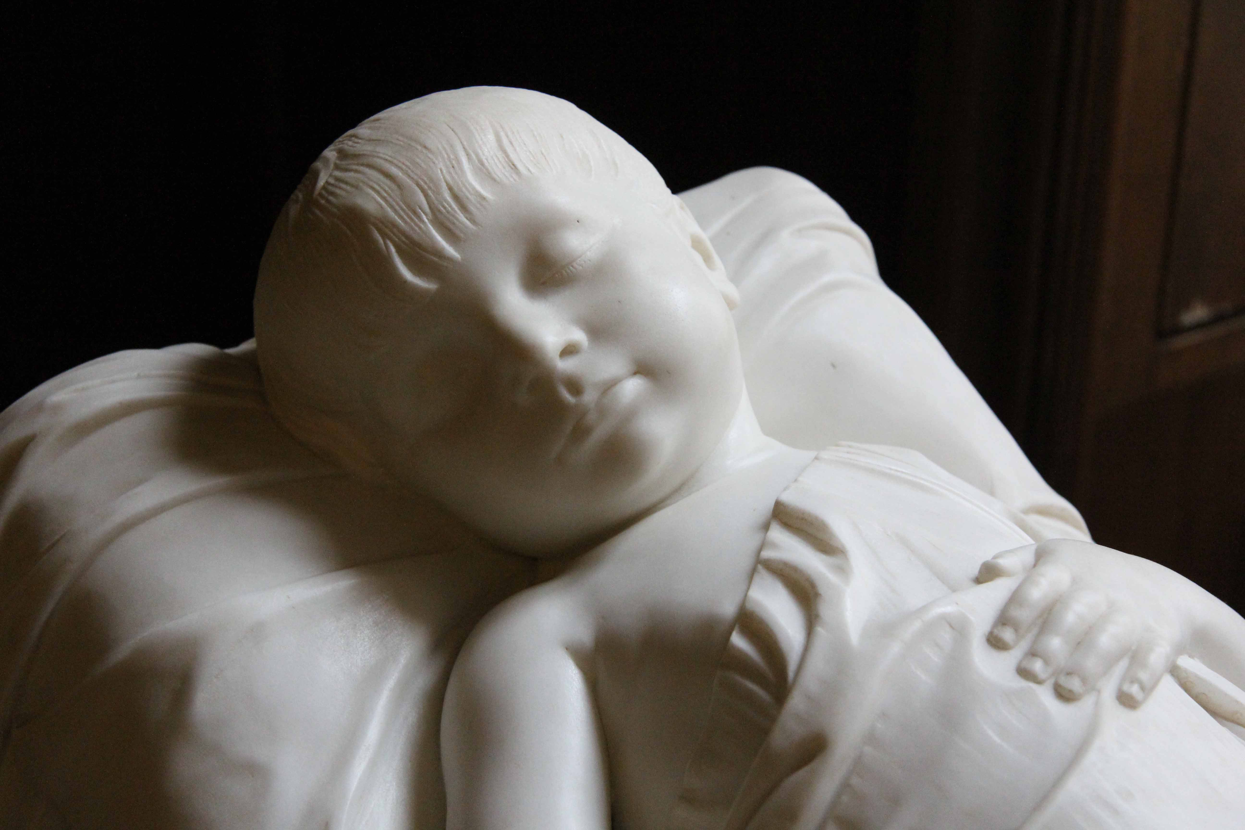 Child's grave statue in the Palace Chapel (Schlosskapelle) at Schloss Charlottenburg in Berlin