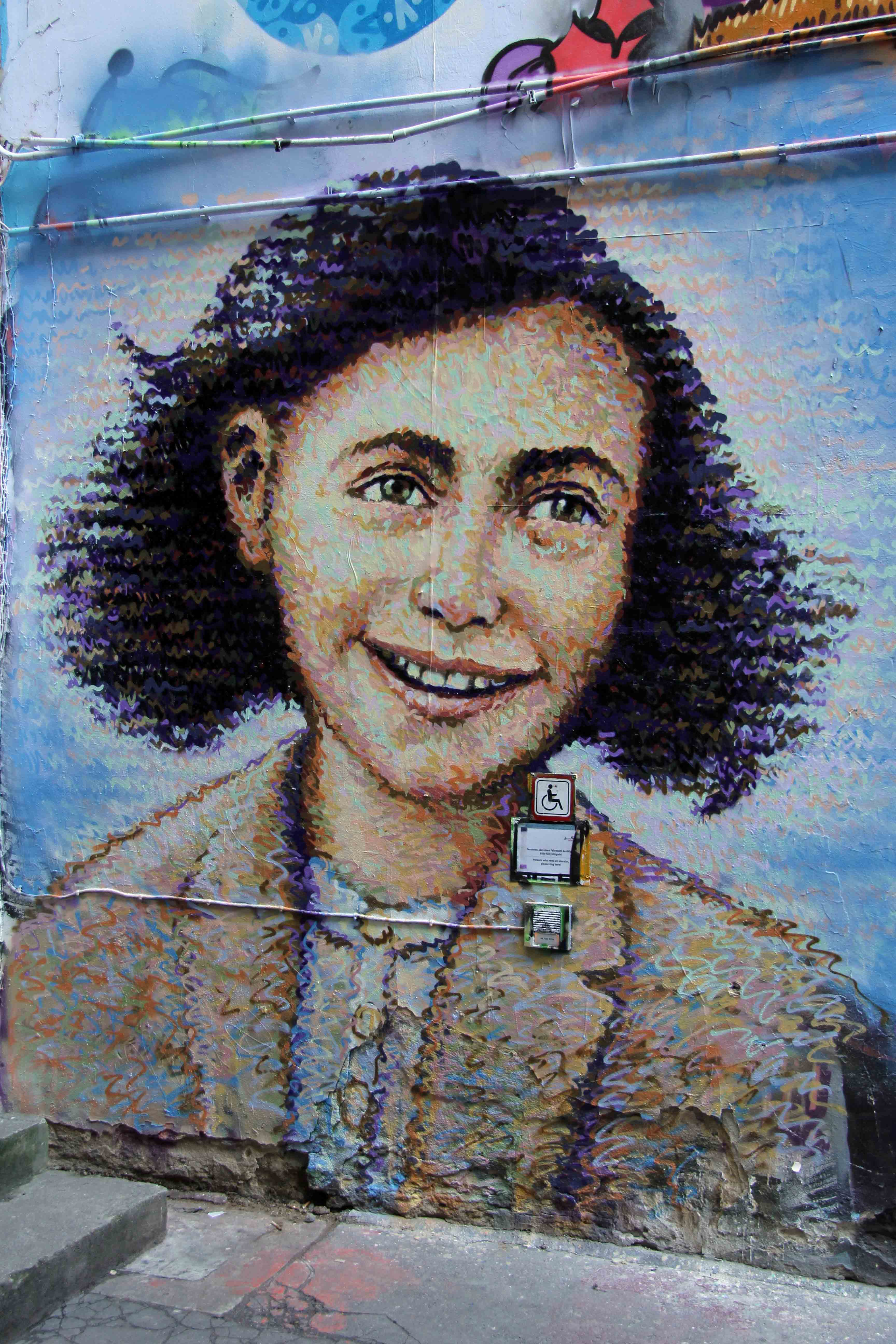 Anne Frank - Street Art by Jimmy C in Berlin