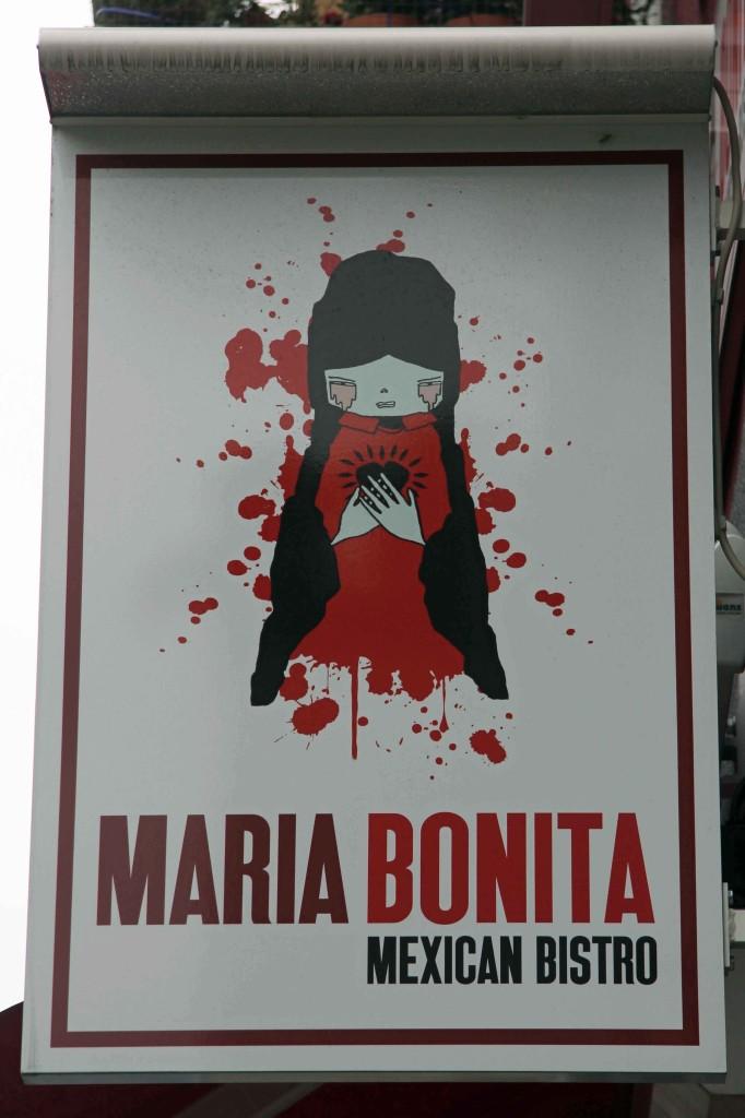 The sign at Maria Bonita Berlin