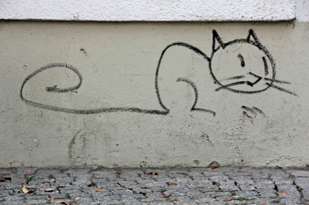 Cat - Street Art by Mein Lieber Prost in Berlin