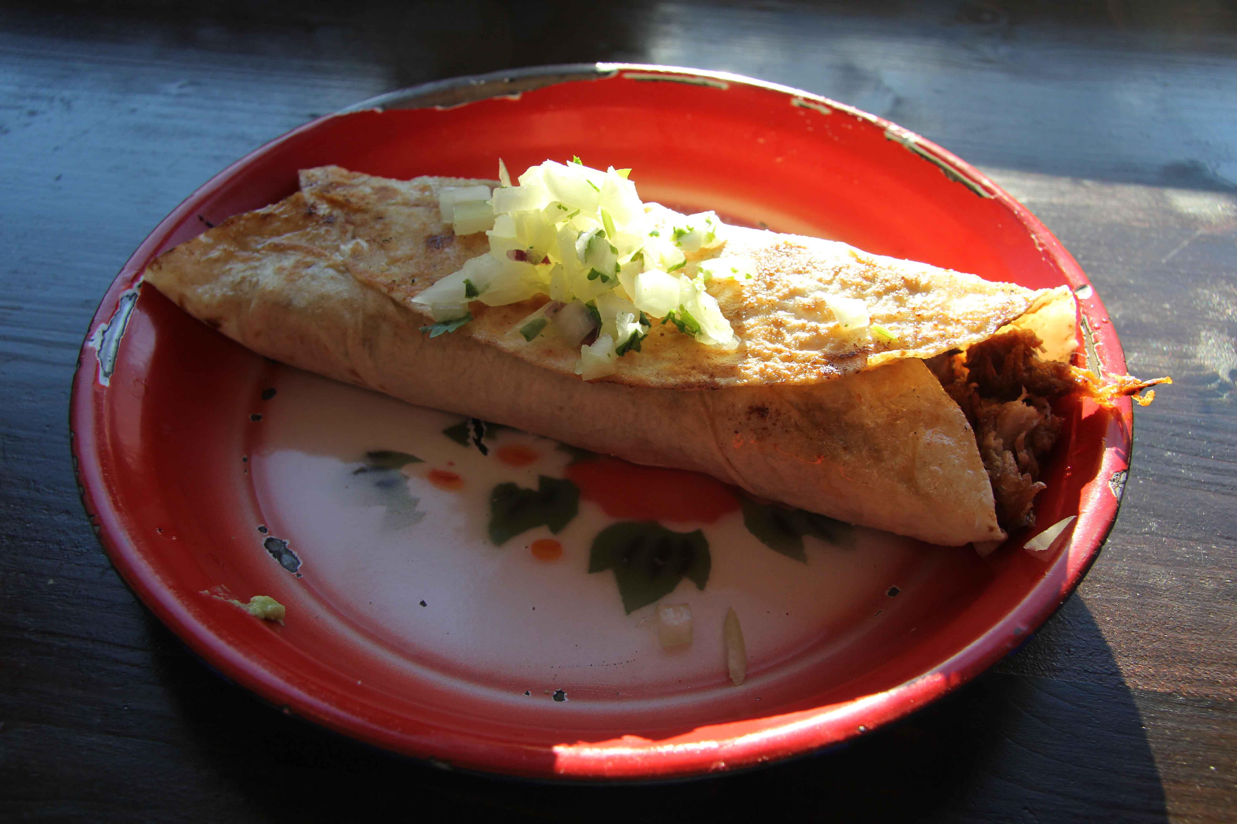 Puerco Especial Burrito at Maria Bonita Mexican Bistro Berlin
