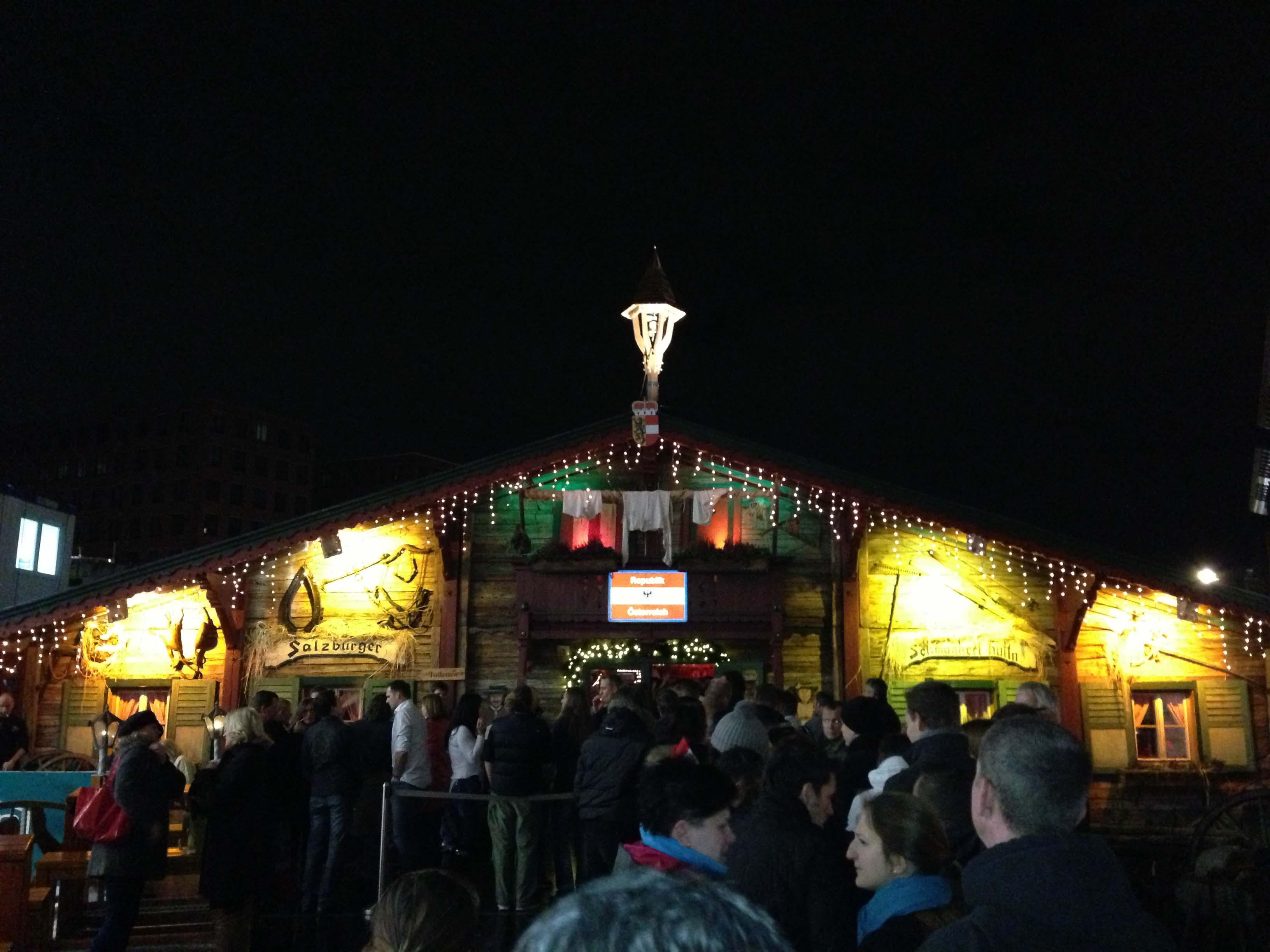 Schmankerl-Hüttn at Winterwelt am Potsdamer Platz in Berlin