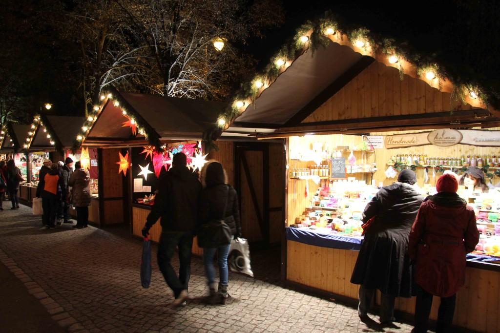 Stalls at Weihnachtsmarkt vor dem Schloss Charlottenburg - a Christmas Market in Berlin