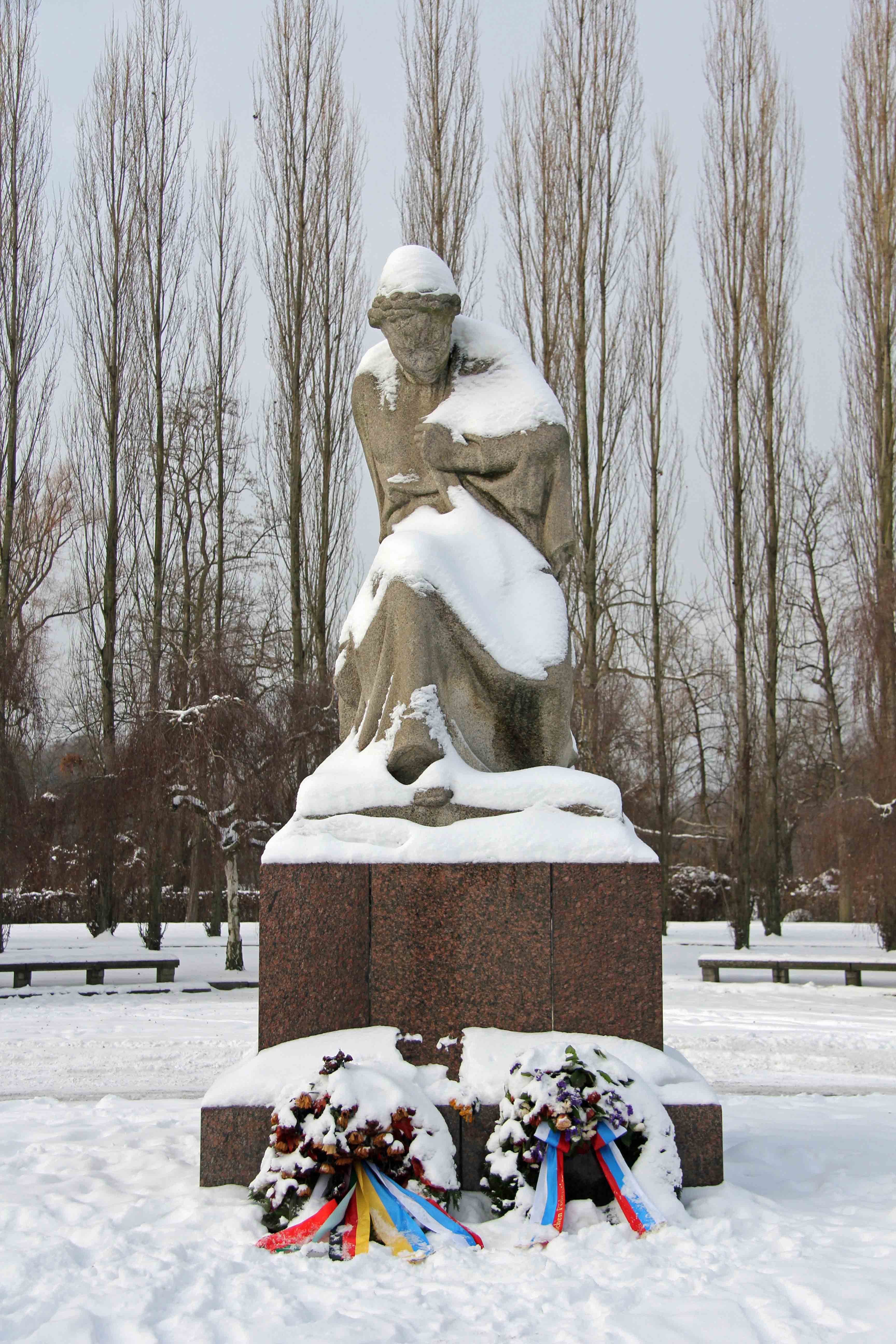 A statue of Mother Russia at the Soviet War Memorial in Treptower Park in Berlin