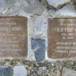 Stolpersteine Berlin 165: In memory of Moritz Kiwi and Philippine Kiwi (Holtzendorffstrasse 20)