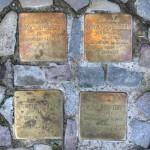 Stolpersteine Berlin 168: In memory of Max Nächemstein, Clara Nächemstein, Bertha Gordon and Wally Gordon (Leonhardtstrasse 6)