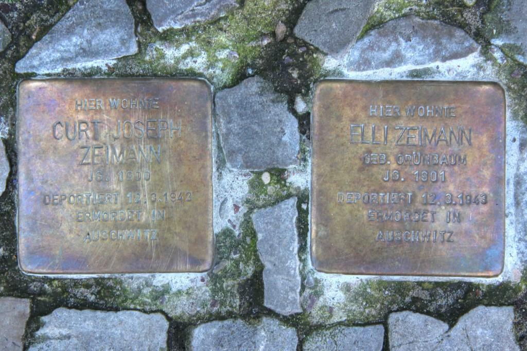 Stolpersteine Berlin 171(2): In memory of Curt Joseph Zeimann and Elli Zeimann (Leonhardtstrasse 18)