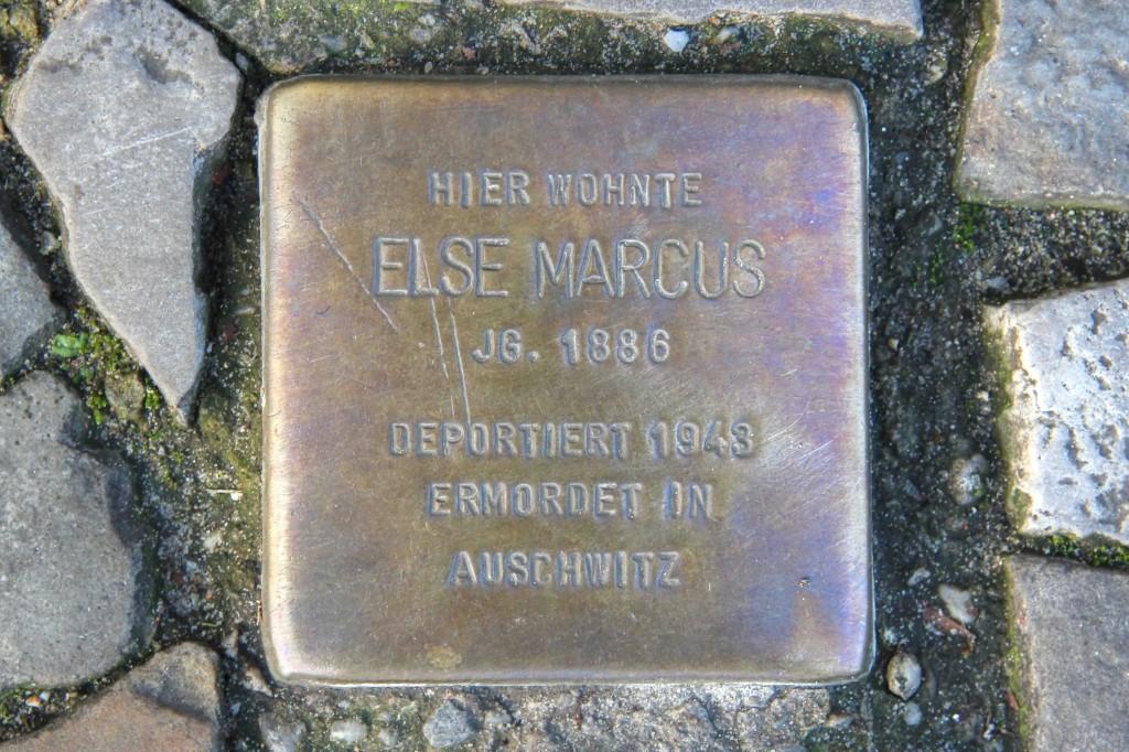 Stolpersteine Berlin 173 (2): In memory of Else Marcus (Rönnestrasse 11)